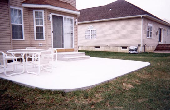 concrete slab patio