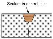 sealant in foundation control joint