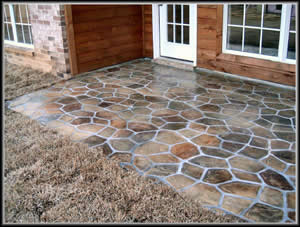 Loose Flagstone Patio. Delighful Loose Flagstone Patio Installation On  Loose Flagstone Patio