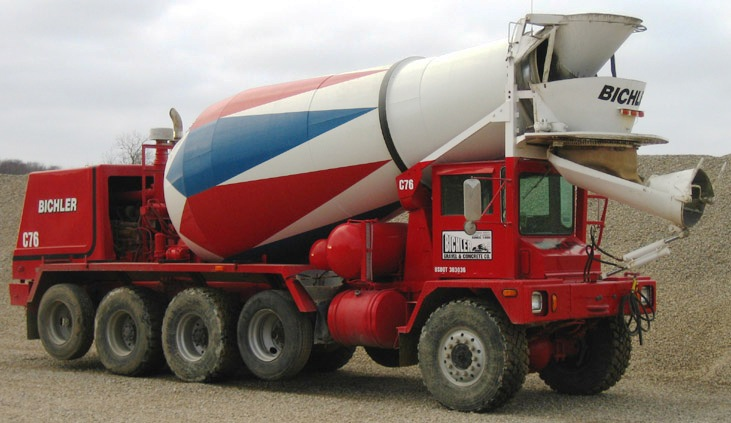 redi-mix concrete truck
